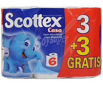 Scottex Rollo Cocina 3+3u