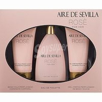 ROSE Eau de toillete-gel-body mujer Rose Pack 1 unid