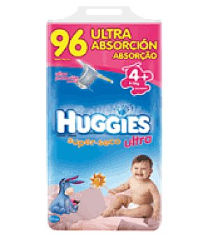 Huggies Pañal super seco ultra t4 9 15kg