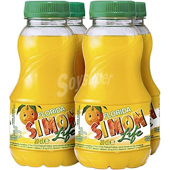 Simon Life Refresco multifrutas 4 unidades de 200 ml