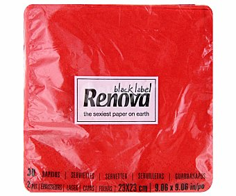 RENOVA Servilletas cocktail de color rojo 30 unidades