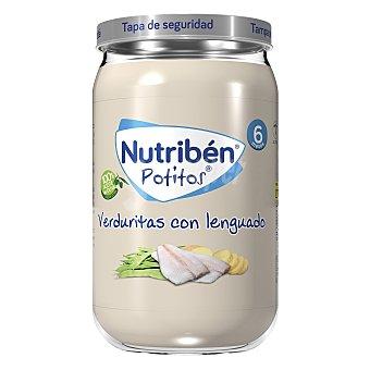 Nutribén Tarrito de lenguado con verduras selectas a partir de 8 meses 250 g