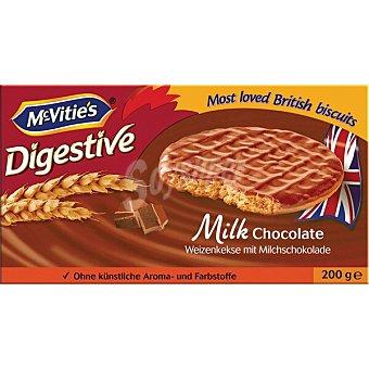 McVities galletas digestive con chocolate con leche paquete 200 g