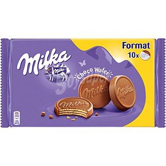 MILKA Choco Wafer galletas de barquillo cubiertas de chocolate paquete 300 g