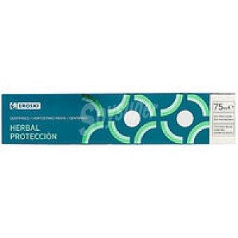 Eroski Dentífrico herbal protección Tubo 75 ml