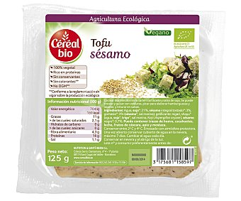Naturecor Tofu con sésamo ecológico 125 gramos
