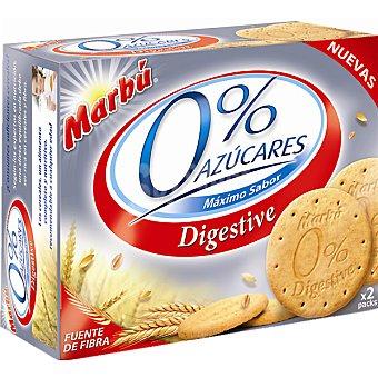 Marbu Galletas tipo Digestive 0% azúcares Estuche 650 g