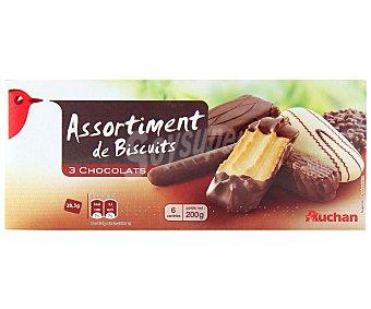 Auchan Surtido de galletas con chocolate 200 gr