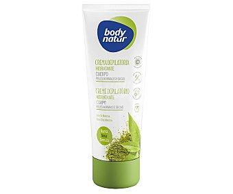 Body Natur Crema depilatoria hidratante cuerpo para pieles normales y secas con té matcha tubo 200 ml tubo 200 ml