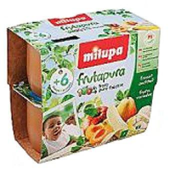 Milupa Frutapura de multifrutas Pack 4x100 g