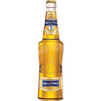 Baltika 5 Cerveza rubia clara de Rusia Botella 50 cl