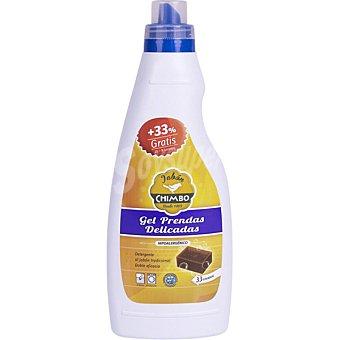 CHIMBO detergente prendas delicadas en gel hipoalergénico botella 25 dosis + 8 gratis