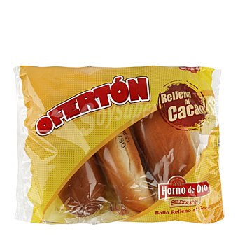 Horno de Oro Bollo relleno de cacao Pack de 3 uds