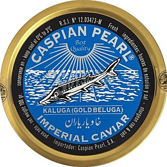 Caspian Pearl Caviar Kaluga imperial gold beluga Lata 100 g