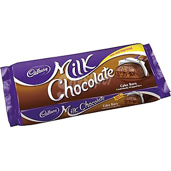 Cadbury Cake bars rellenos de caramelo estuche 151 g 5 unidades