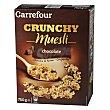 Cereales de muesli crujiente con chocolate 750 g Carrefour