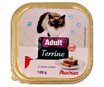 Auchan Comida Húmeda para Gatos. Pate Gambas Tarrina de 100 Gramos