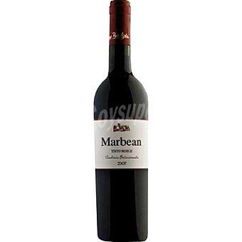 MARBEAN Vino tinto roble vendimia seleccionada de Extremadura Botella 75 cl