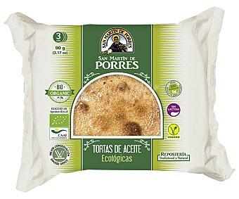 San Martín de Porres Tortas de aceite ecológicas Paquete 90 g - 3 u