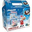 Playmobil set de navidad contiene monedas de chocolate con leche y un juguete Estuche 50 g BIP