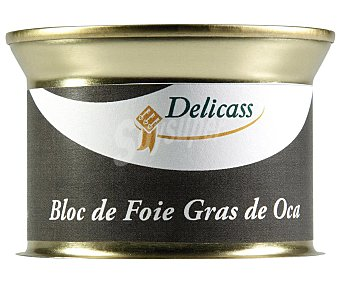 Delicass Bloc de foie gras de oca sin gluten 130 gramos
