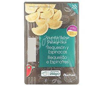 Auchan Medias lunas rellenas de requesón y espinacas (pasta fresca al huevo) 250 gramos