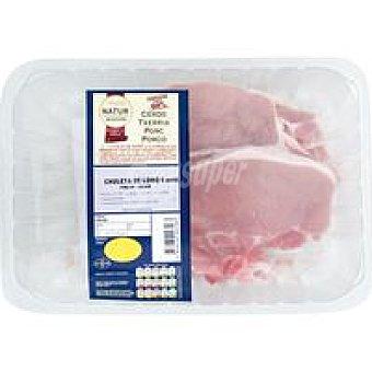 Natur Chuleta de lomo de cerdo Eroski 660 g
