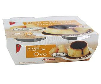 Auchan Flan de huevo Pack 4 unidades de 100 gramos