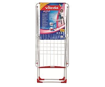 Vileda Tendedero ligero modelo Style, con protectores de plástico en las patas y armazón en color blanco. Plegable y Extensible 1 Unidad