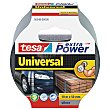 10 metros de cinta adhesiva gris de 50mm. ultra fuerte Extra power universal  Tesa extra power universal