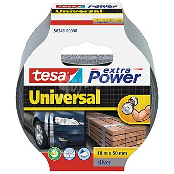 Tesa extra power universal 10 metros de cinta adhesiva gris de 50mm. ultra fuerte Extra power universal