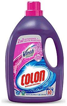 Colón Detergente máquina líquido gel con agentes Vanish Power Gel para ropa blanca y de color Botella 60 dosis