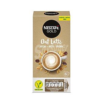 Nescafé Café soluble latte avena en sobres Gold sin lactosa Pack de 6 unidades de 16 g
