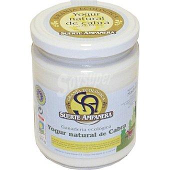 SUERTE AMPANERA yogur natural de cabra ecológico  frasco 470 g
