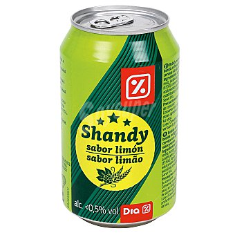 DIA Cerveza shandy sabor limón lata 33 cl Lata 33 cl