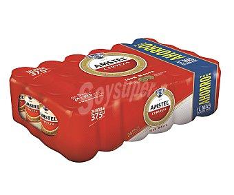 Amstel Cerveza Pack de 24 latas de 37,5 cl