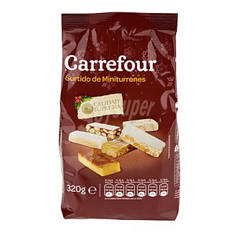 Carrefour Mini Surtido Porciones Turrón 320 g