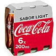 Refresco de cola light 6 botellines de 20 cl Coca-Cola Light