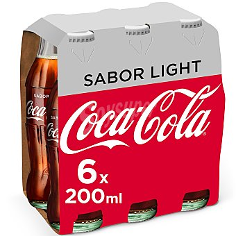Coca-Cola Light Refresco de cola light 6 botellines de 20 cl