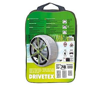 DRIVETEX Cadenas de nieve textiles, número 78 2 unidades