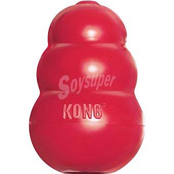 KONG CLASSIC Juguete para perro de goma natural para limpiar los dientes color rojo tamaño mediano 1 unidad