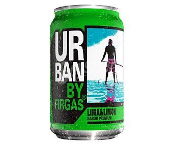Urban Refresco de lima-limón sabor premium lata 33 cl