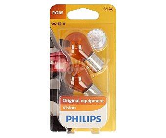 Philips Lote de 2 bombillas para automóvil, tipo PY21W philips