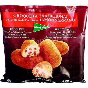 El Corte Inglés Croqueta tradicional de estofado de cocido con jamón serrano bolsa 500 g Bolsa 500 g