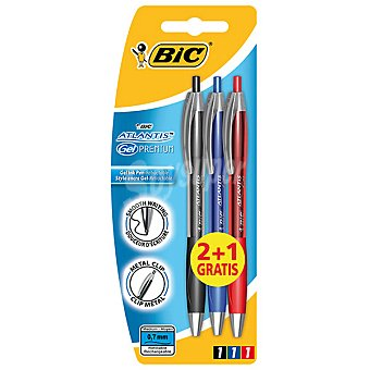 BIC Atlantis Gel Bolígrafos + 1 gratis Pack 2