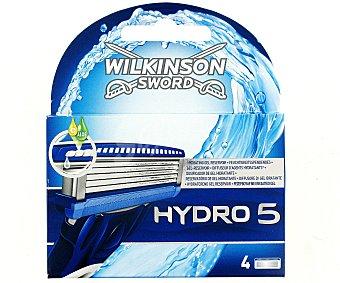 WILKINSON Hydro 5 Cargador de afeitar Pack 4 unid