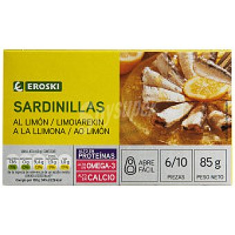 Eroski Sardinilla al limón Lata 85 g
