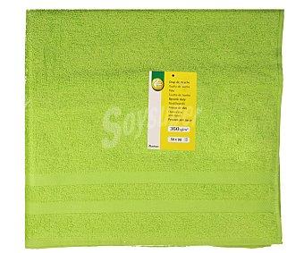 Productos Económicos Alcampo Toalla 100% algodón color verde para lavabo, densidad de 360 gramos/m², 50x90 centímetros 1 unidad