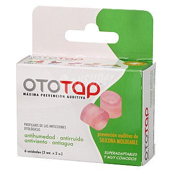OTOTAP Tapones de silicona 6 ud