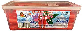 King Regal Regaliz fresa rellenito de nata Paquete 25 u - 320 g